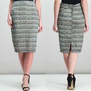 Bar III Midi Skirt Dusty Olive Combo Size M NWT